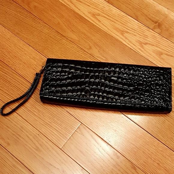 Unbranded Handbags - Unbranded black PVC clutch
